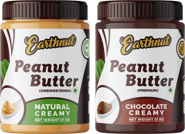 Earthnut Peanut Butter Combo Creamy Chocolate (1kg + 1kg) 2 kg