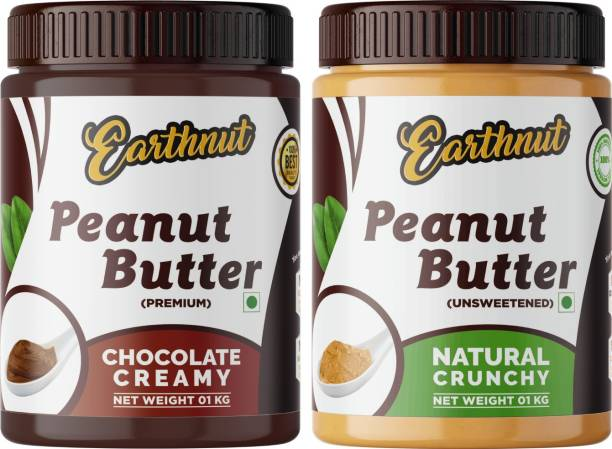Earthnut Peanut Butter Combo Crunchy Chocolate (500g + 500g) 1 kg