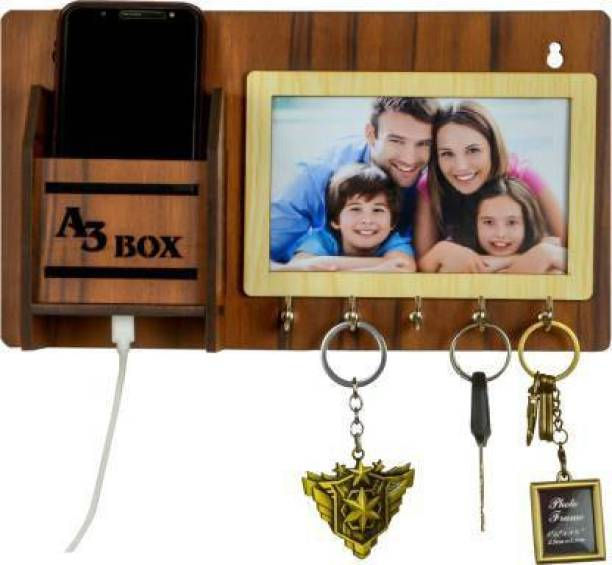 A3 BOX 5MM MDF Photo Frame With Wood Key Holder