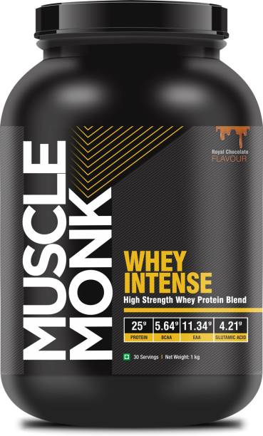 MuscleMonk Highly Advanced Intense Whey Protein - Royal Chocolate - 1kg Whey Protein