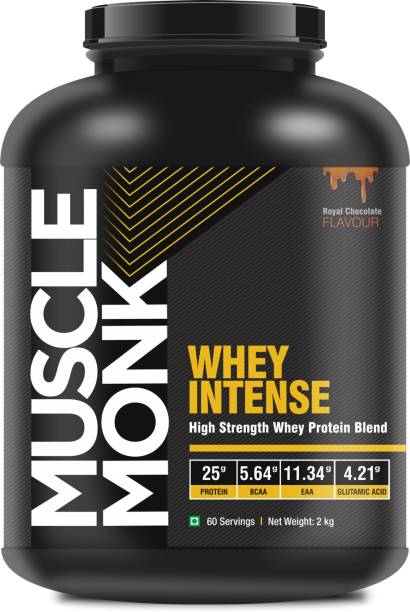 MuscleMonk WHEY INTENSE with Whey Protein Concentrate, Isolate and Hydrolyzed Whey Peptide Whey Protein