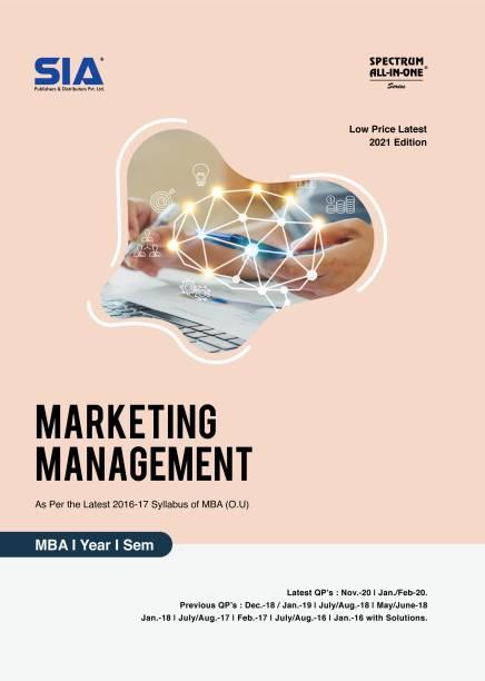Marketing Management, MBA (O.U) I-Year I-Sem, As Per The Latest 2016-17 Syllabus, Low Price Latest 2021 Edition