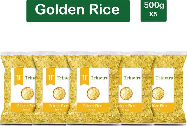 Trinetra Best Quality Golden Rice-500gm (Pack Of 5) Yellow Rice (Medium Grain, Parboiled)