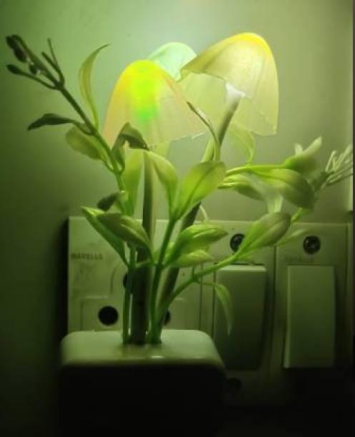 menaso Colorful Romantic LED Mushroom Night Light Dream Bed Lamp Home Decoration ~ Pack of 1 Night Lamp Table Lamp