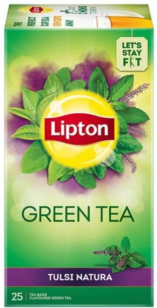 Lipton Tulsi Natura Tulsi Green Tea Bags Box