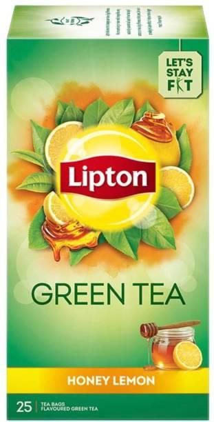 Lipton Honey, Lemon Green Tea Bags Box