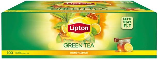 Lipton Honey, Lemon Green Tea Bags Box