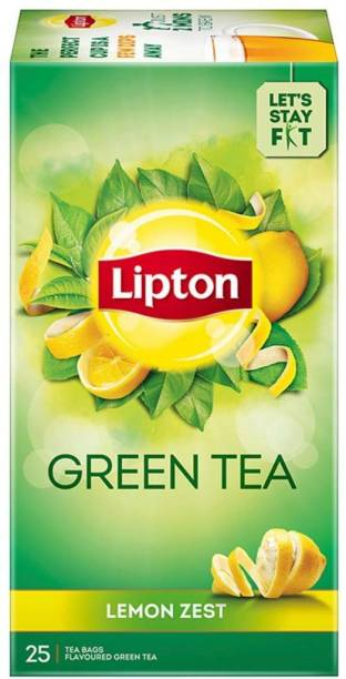 Lipton Zest Lemon Green Tea Bags Box