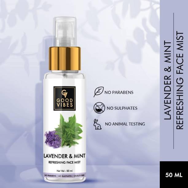 GOOD VIBES Lavender & Mint Face Mist (50 ml) Men & Women