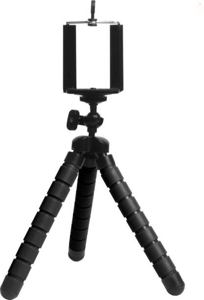 Callmate Tarantula 360 ° Rotatable Ball Head Flexible Gorillapod Tripod with Tripod Mount & Mobile Attachment for DSLR, Action Cameras & Smartphone - Black Tripod