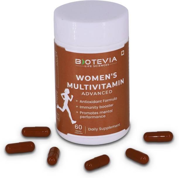 Biotevia Women's Multivitamin Capsules with Nutrients, Antioxidants, Energy, Immunity