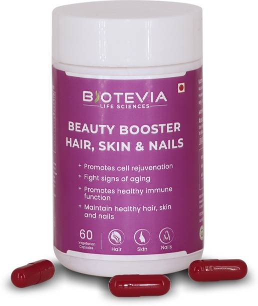 Biotevia Beauty Booster Capsules to Boosts Hair, Nails and Skin with Biotin
