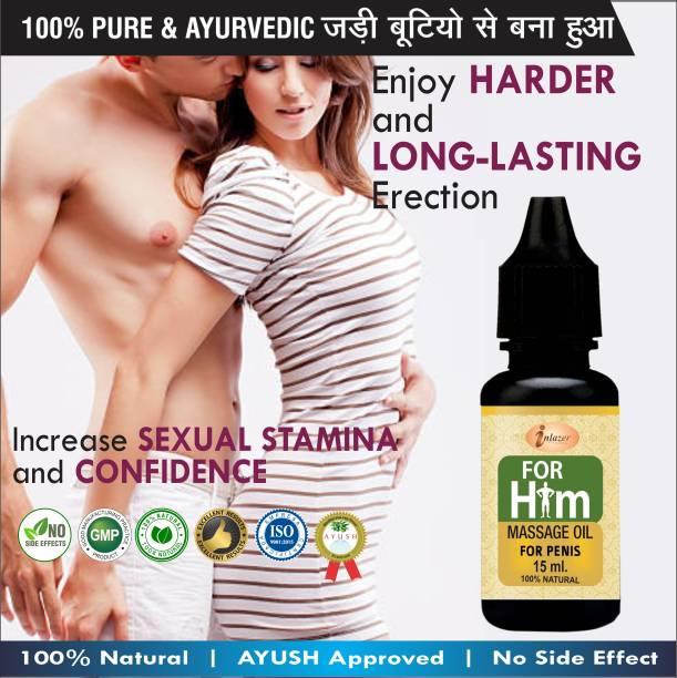 inlazer For Him Organic Massage Oil For Increase Penis Length & Girth (15ML)