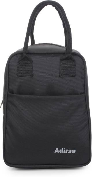 ADIRSA LB4001 Black Insulated Lunch Bag / Tiffin Bag for Men, Women, Kids, School, Picnic,Work Carry Bag for Lunch Box Waterproof Lunch Bag