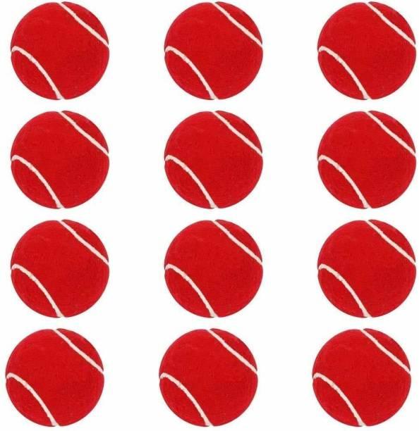 RTC Tennis Rubber Light Weight Ball Tennis Ball (Pack of 12, Red) Tennis Ball