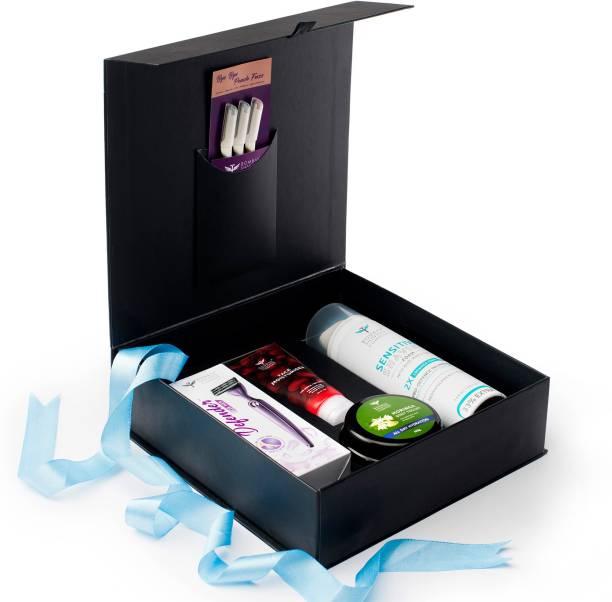 BOMBAY SHAVING COMPANY Grooming Kit For Women with Body & Face Razor For Women, Shaving Foam, Face Moisturizer & Moringa Body Yogurt