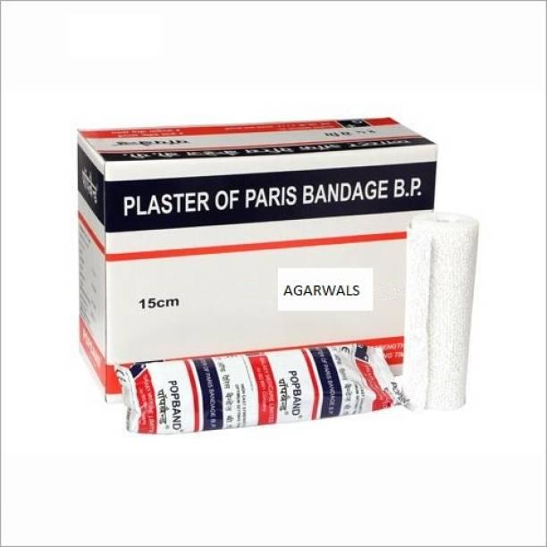 Agarwals POPBAND Plaster Of Paris Bandage 15Cm*2.7Mt(Pack Of 6) Crepe Bandage