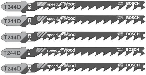 BOSCH Jigsaw Blades Ideal for Wood Cutting T244D (Pack of 5) Wood Cutter