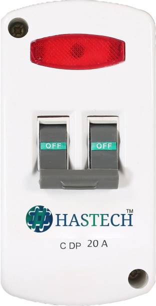 HASTECH MCB DP20 AMP. ENCLOSURE MCB DP 20AMP.WITH ENCLOSURE WHITE ON-OFF LIGHT MCB
