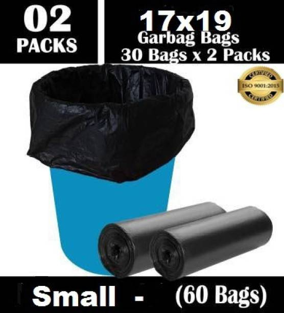 PERSONALITY PLUS Biodegradable Garbage Bags 17X19 inches ( pack of 2, 60 pieces ) Small 60 L Garbage Bag