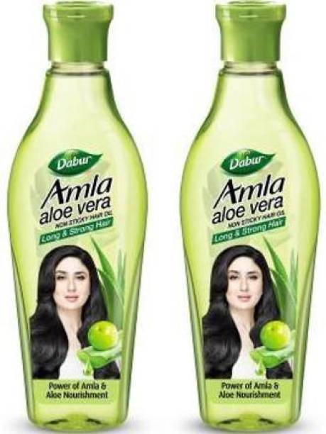 Dabur AMLA ALOE VERA 400 ML (200*2)( PACK OF 2) Hair Oil