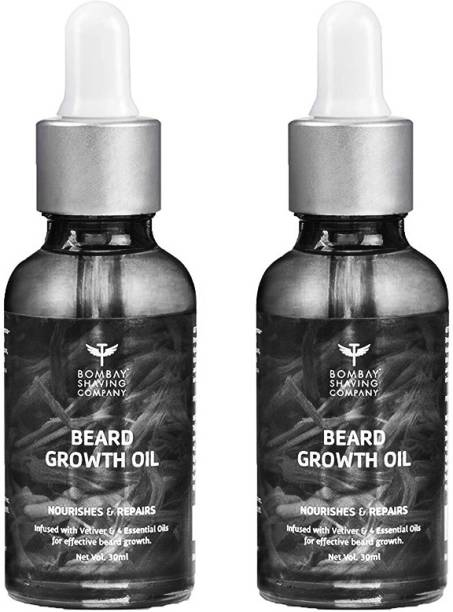 BOMBAY SHAVING COMPANY Company Natural Vetiver Beard Growth Oil For Stimulating Healthy & Fast Beard Growth Hair Oil