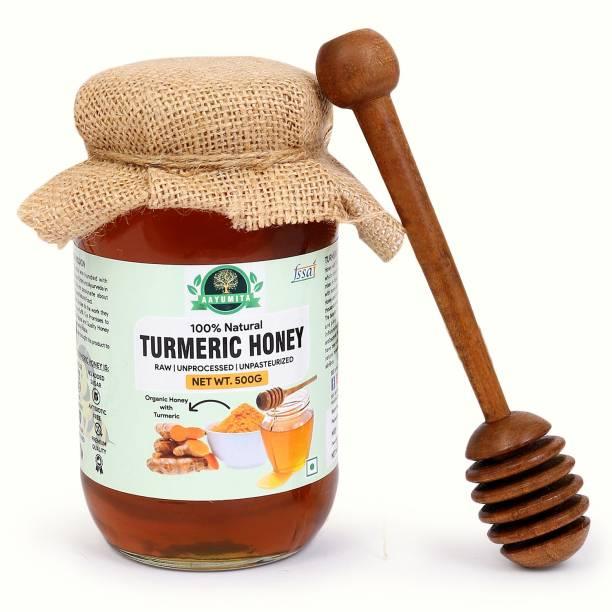 Aayumita Haldi-Turmeric Honey 100% Natural and Honey Stick