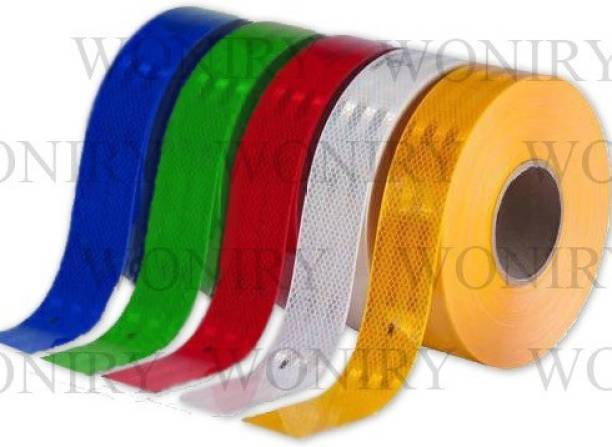 Woniry Car-Styling Reflective Bright Tape Red,Yellow,Green,Blue&White-3M 50.8 mm x 3 m multicolor Reflective Tape