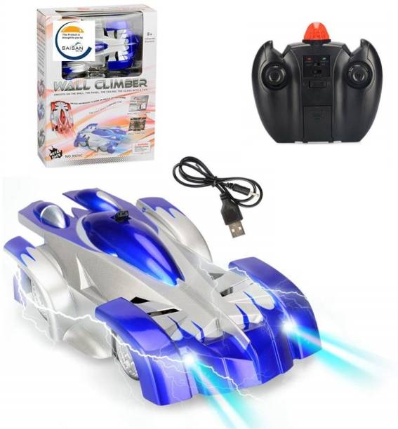 V Enterprises Remote Control Wall Climbing Car Toy Racing Unbreakable Car with Rechargeable Battery