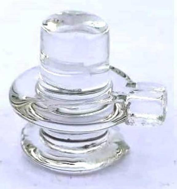 A1 Laxmi Ganesh Crystal Spatik Shivling 5 cm Decorative Showpiece  -  5 cm