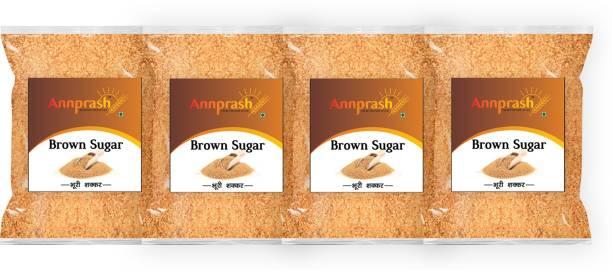 ANNPRASH Premium Quality Brown Sugar - 1kg (Pack of 4) Sugar