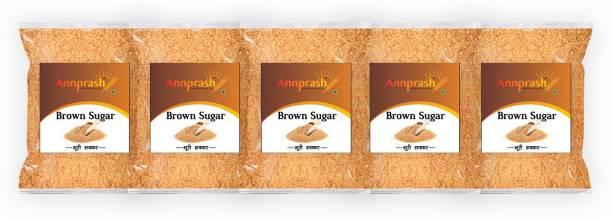 ANNPRASH Premium Quality Brown Sugar - 1kg (Pack of 5) Sugar