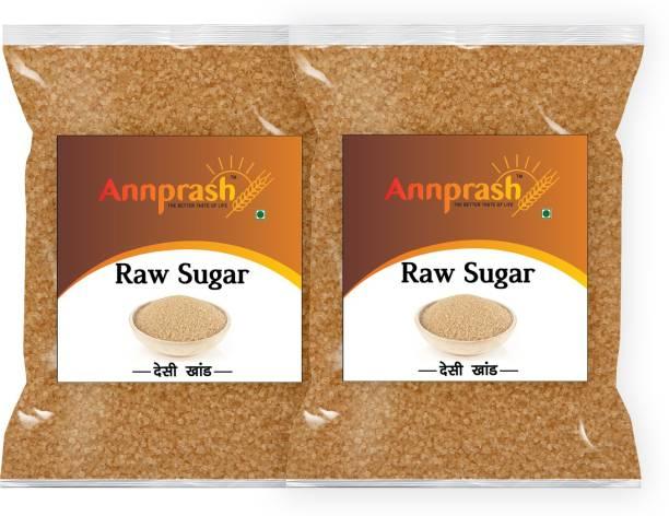 ANNPRASH Premium Quality Desi khand/Raw Sugar - 1kg (Pack of 2) Sugar