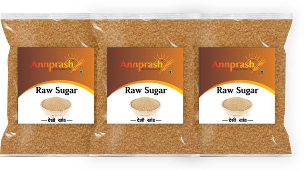 ANNPRASH Premium Quality Desi khand /Raw Sugar- 500gm ( Pack of 3) Sugar