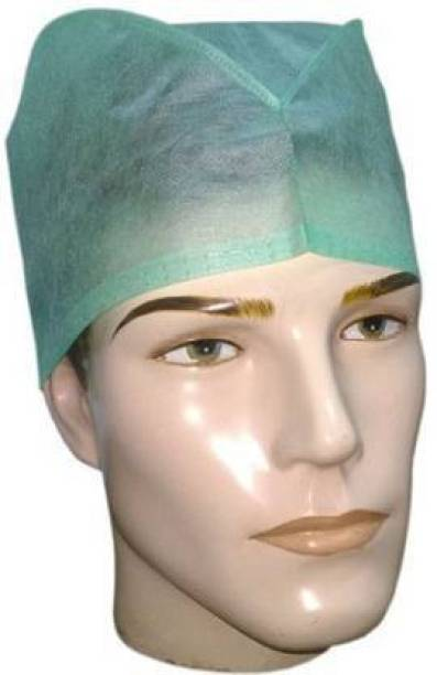 crystal = Good Quality Non Woven Material Surgeon Cap For Doctor / Nurse ISO 9001:2015 Certified ( Pack of 25 ) Surgical Head Cap