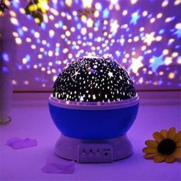 Heti Beauty 360 Degree Rotation 4 LED Bulbs 9 Light Color Changing Star Night Light   Dream Rotating Projection Light Table Lamp