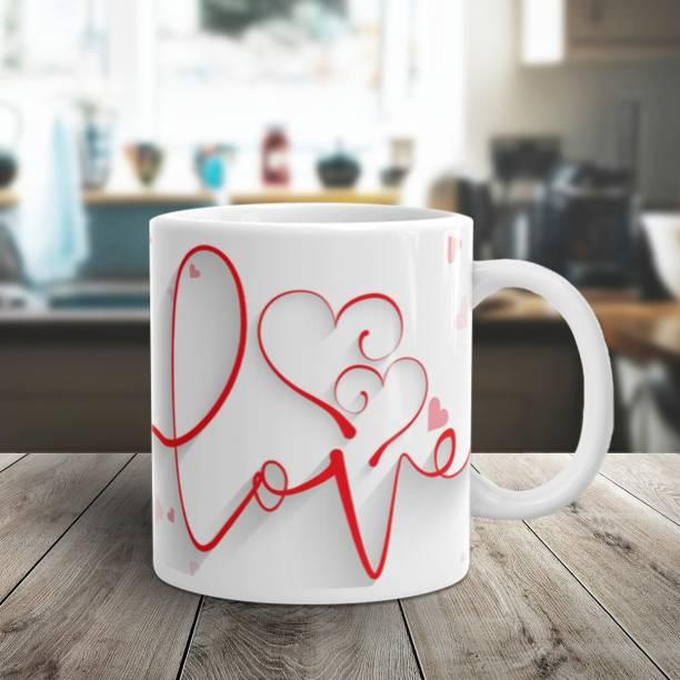 Flipkart SmartBuy PAPER CRAFT LOVE Ceramic Coffee Mug
