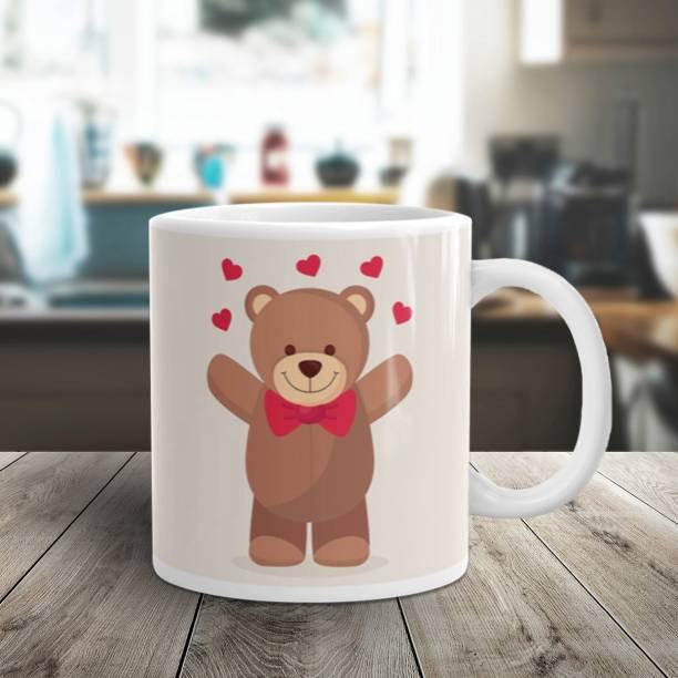 Flipkart SmartBuy TEDDY WELCOME LOVE Ceramic Coffee Mug