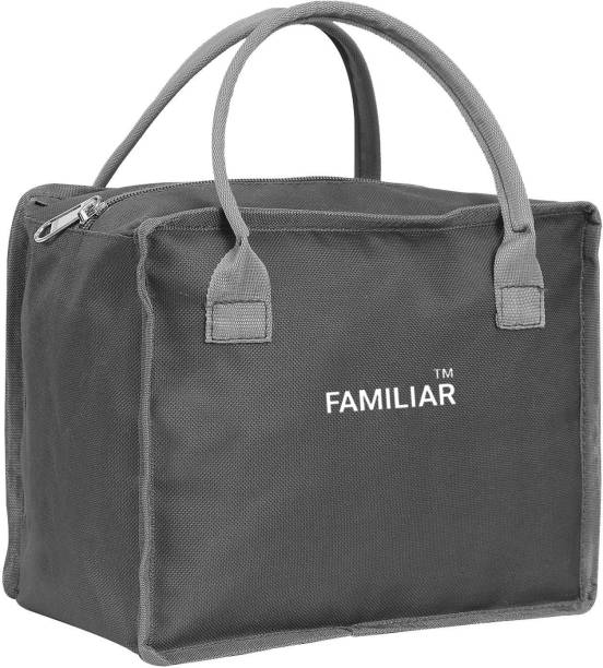 familiar Office Lunch Bag for Men and Women -Tiffin Bag for Kids - Grey Waterproof Lunch Bag Makeup Kit Bags Waterproof Lunch Bag