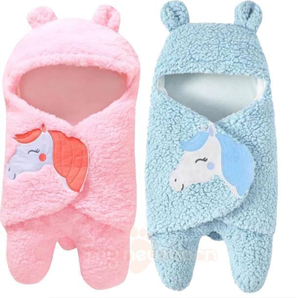 My New Born Animal Single Hooded Baby Blanket