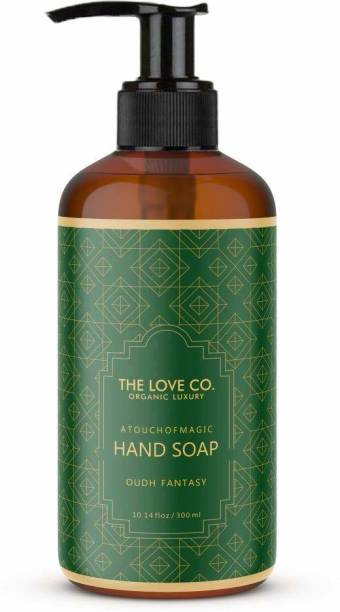 The Love Co. Liquid Refill Pack Oudh Fantasy Hand wash, No Parabens, Silicones & Color, 100% Vegan, For Men & Women 300ml Hand Wash Bottle