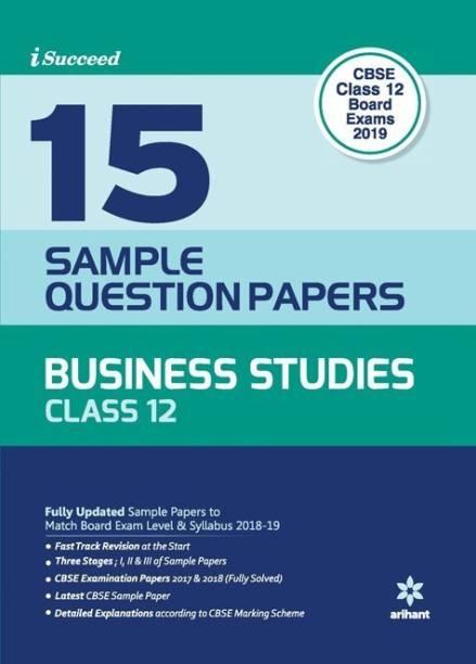 15 Sample Question Paper Business Studies Class 12th Cbse