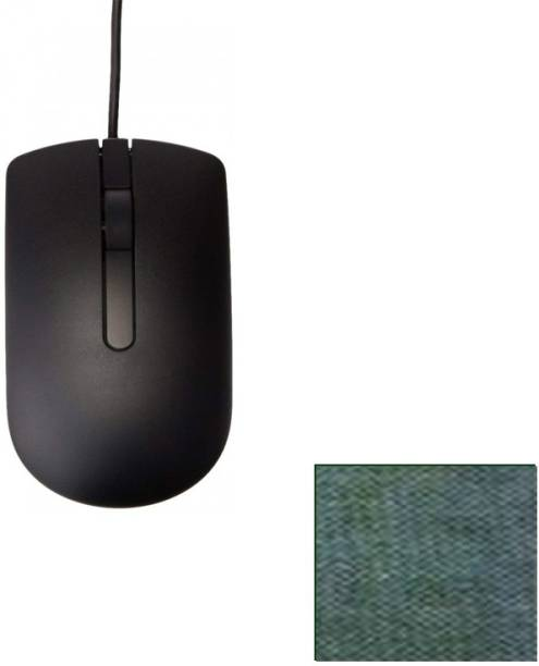 DELL 1 WIRED OPTICAL MOUSE GRIP WITH COMFORTABLE LONG CABLE 1 MOUSE PAD COMBO SET BEST QUALITY Combo Set
