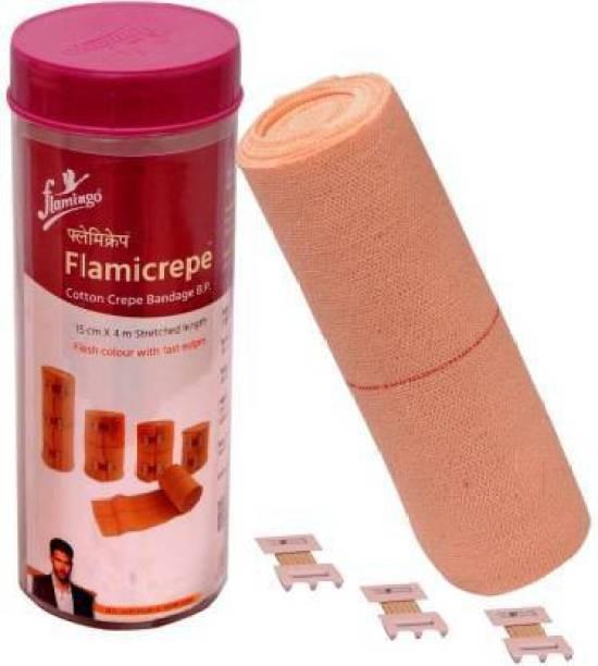 FLAMINGO Flamicrepe Cotton Crepe Bandage 15cmX4m Crepe Bandage