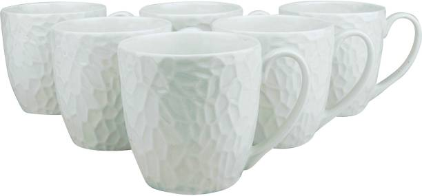 Pearl Pack of 6 Bone China Marvel Fine Tableware Bone China Tea Cups Set of 6 for Home/Office/Gifts , 150 ml