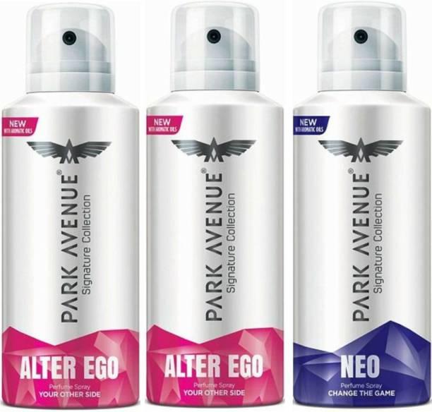 PARK AVENUE 2 Alter Ego & 1 Neo Deodorant Spray  -  For Men