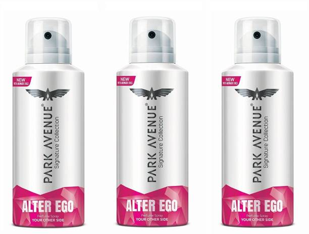 PARK AVENUE Alter Ego Signature Collection Body Spray 130ML Each (Pack of 3) Deodorant Spray  -  For Men & Women