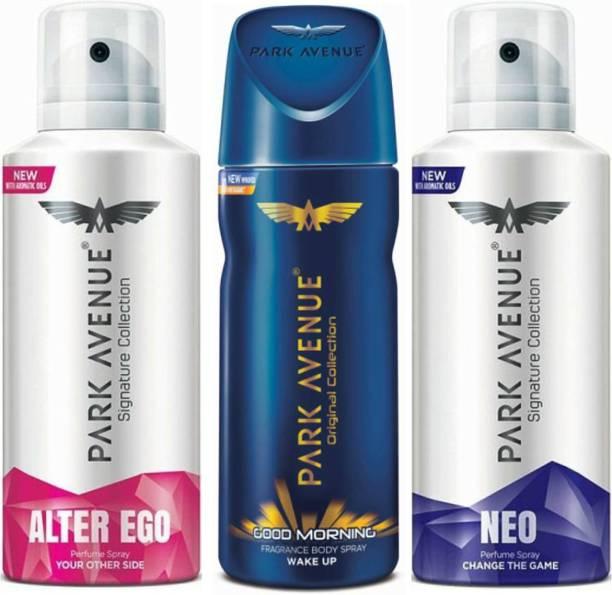 PARK AVENUE 1 Alter Ego & 1 Good Morning & 1 Neo Deodorant Spray  -  For Men