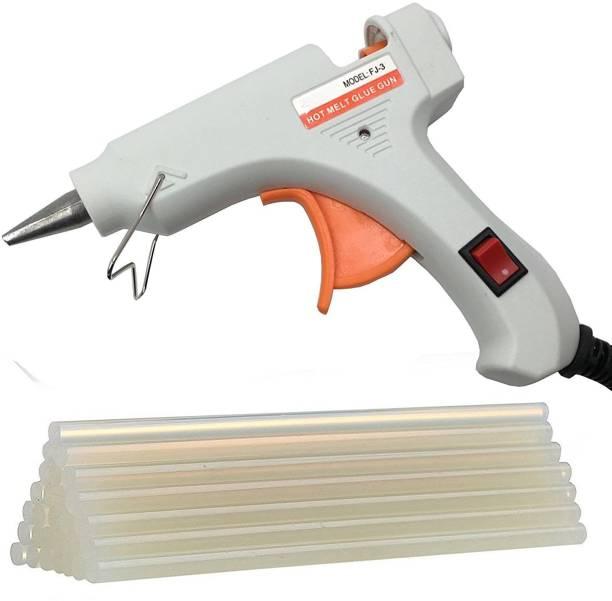 DST Ougesen Mini 20w 20 Watt Hot Melt Glue Gun (7mm) (White and 5 Sticks) Standard Temperature Corded Glue Gun