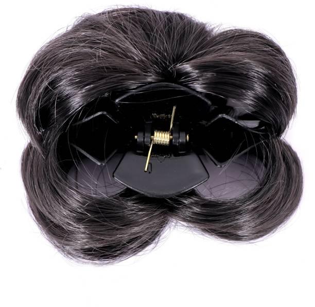 Honbon Artificial Juda with Clutcher Hair Accessories, Black, Medium Hair Claw